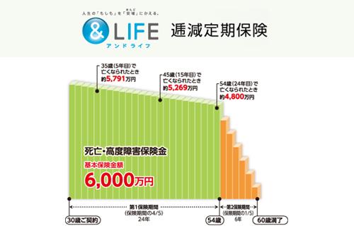 三井住友海上あいおい生命&LIFE逓減定期保険の口コミ・特徴